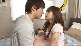 Hairy pussy Hirono Imai pleasured with a vibrator and a dick
