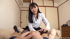 Unaffected boobs Japanese chick moans while getting fucked sympathetic