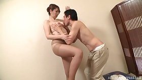 Denude intimacy for a Japanese mature with nice ass