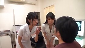 Japanese doctors drop on their knees to pleasure a lucky specimen