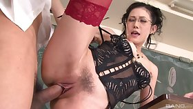 Mature moans with young inches in say no to trimmed cherry