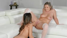 Emily Right can't hide lust anymore coupled with fucks Alexia Anders
