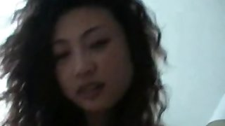 Chinese housewife gets fucked after a tasty dessert