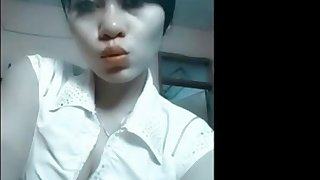 Sexy indonesian girl fucking with lover at hotel