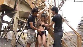 Amateur teens alfresco triumvirate sex orgy